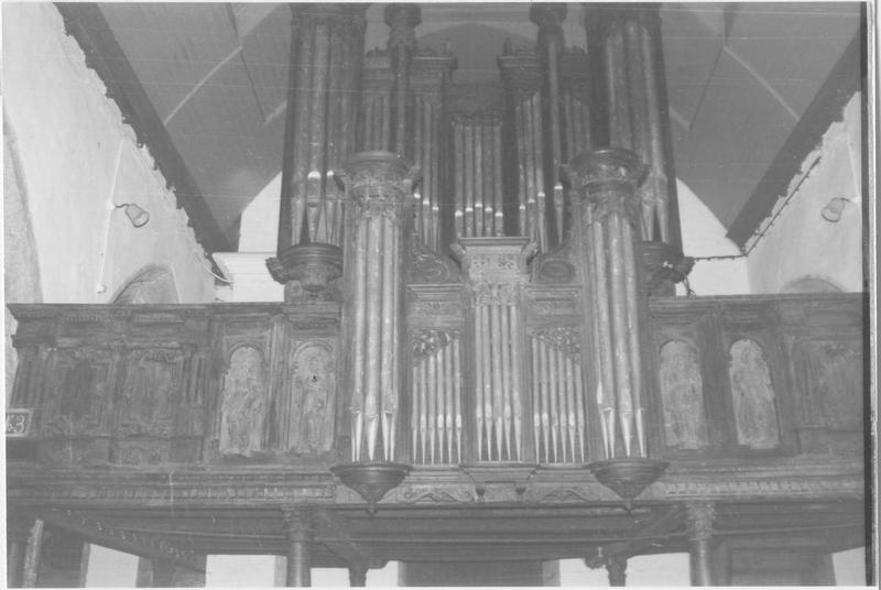 orgue de tribune : tribune d'orgue ; buffet d'orgue