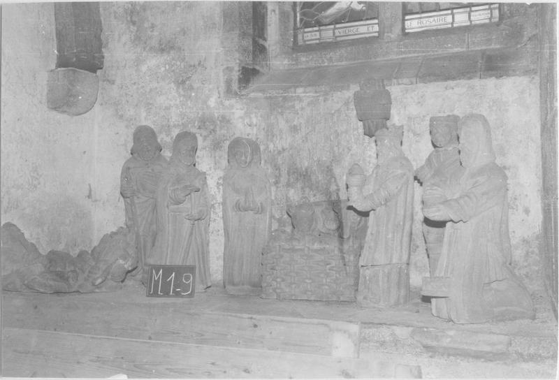 groupe sculpté : L'Adoration des Mages, vue générale