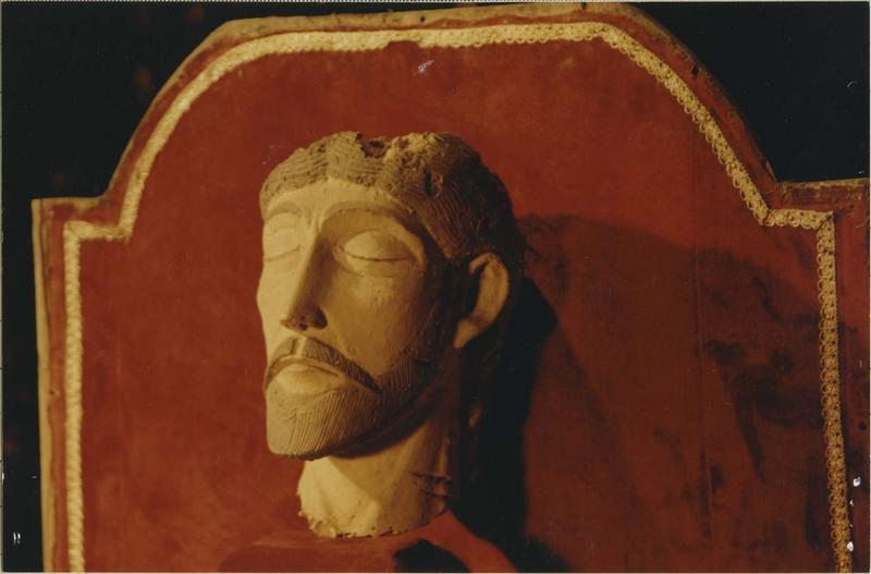 statue (tête) : Christ, vue générale