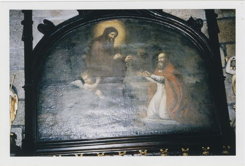 Tableau : saint François de Paule remettant le scapulaire à un évêque, vue générale
