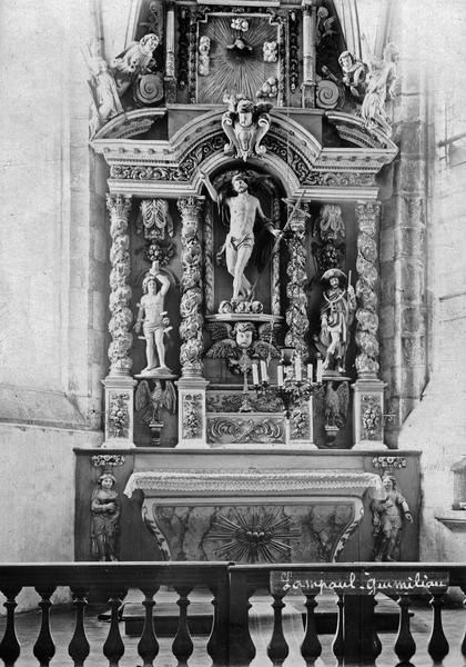 autel et retable du grand prêtre, vue générale