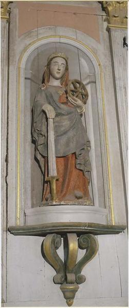 Statue : Sainte Catherine, vue générale