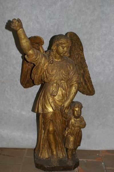 Groupe sculpté : Tobie et l'ange