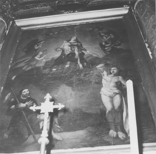 tableau : Vierge à l'enfant entre saint Roch et saint Sébastien, vue générale