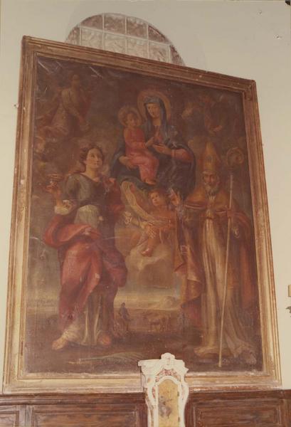 tableau : Vierge à l'Enfant, saint Martin, sainte Lucie et sainte Apollonie d'Alexandrie, vue générale