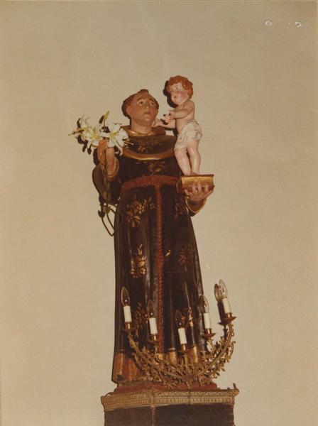 statue : saint Antoine de Padoue, vue générale