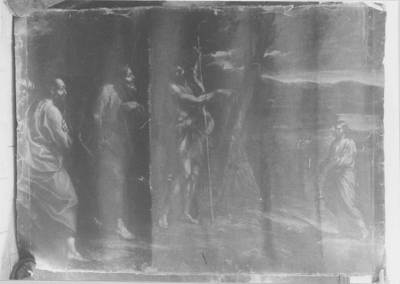 tableau : saint Jean-Baptiste désignant le Christ, vue générale