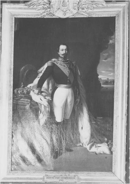 tableau : Napoléon III en tenue de grand apparat, vue générale