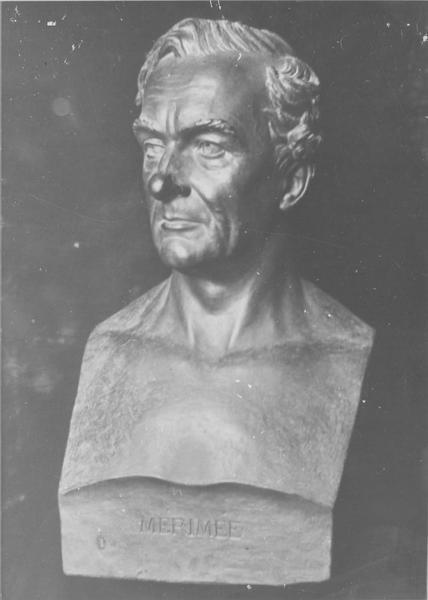 buste : Prosper Mérimée, vue générale