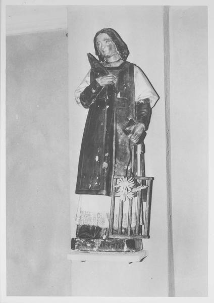 statue : saint Laurent, vue générale