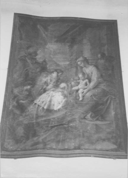 tableau : l'Adoration des Mages, vue générale