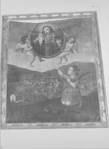 tableau : saint Cyr et Vierge des douleurs, vue générale