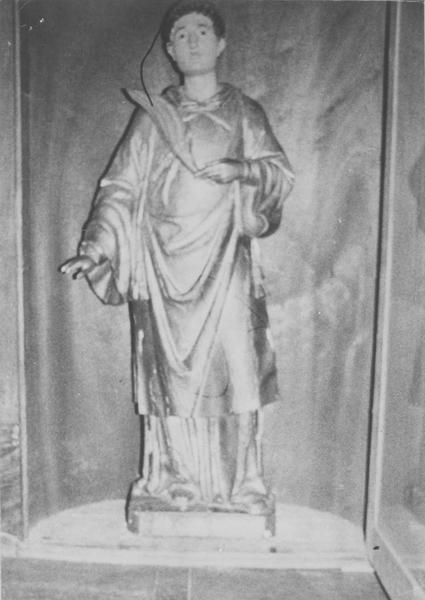 statue : saint Laurent, diacre, vue générale