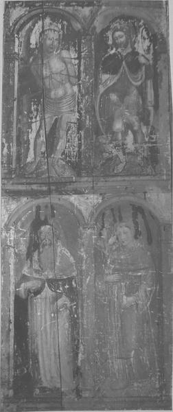 tableau : huit saints, vue générale