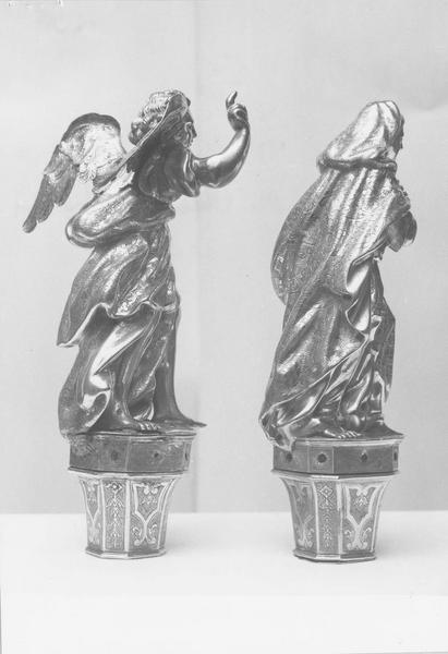 2 bâtons de procession de confrérie