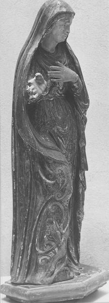 Groupe sculpté : l'Annonciation