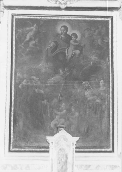 Tableau : Vierge à l'Enfant remettant le scapulaire à saint Simon Stock