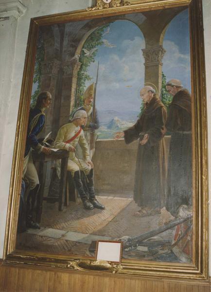 tableau : Saint Théophile de Corte intercédant pour ses compatriotes auprès du Duc de Wurtenberg