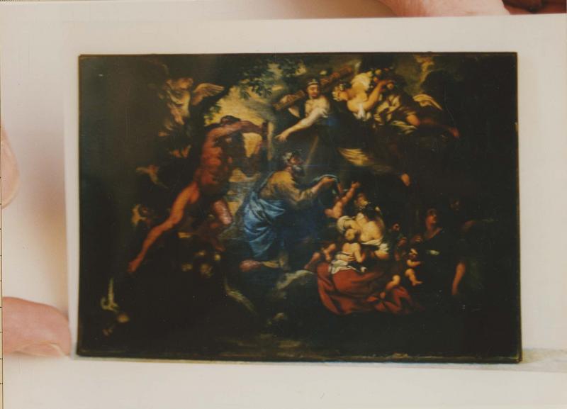 Tableau : Héraklès et Antée dans le jardin des Héspérides