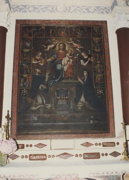 tableau, cadre : La Vierge au rosaire avec saint Dominique et sainte Catherine de Sienne
