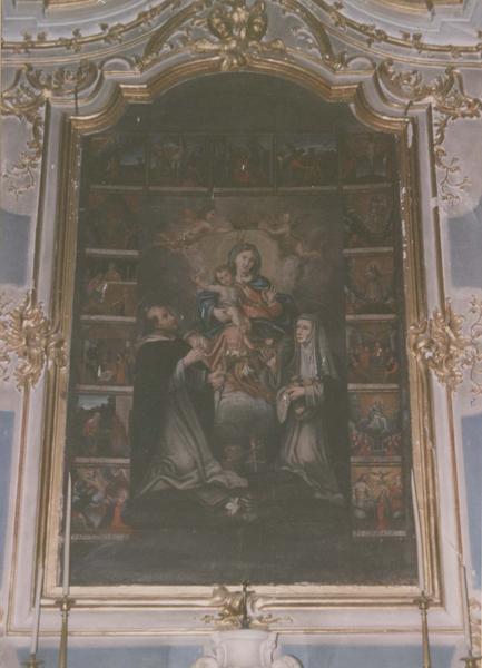 tableau : La Vierge au rosaire avec saint Dominique et sainte Catherine de Sienne