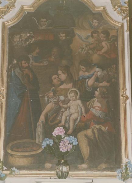 tableau : La Vierge à l'Enfant avec sainte Anne
