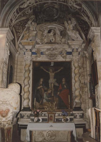 retable, tableau : Les Saintes femmes au pied de la croix