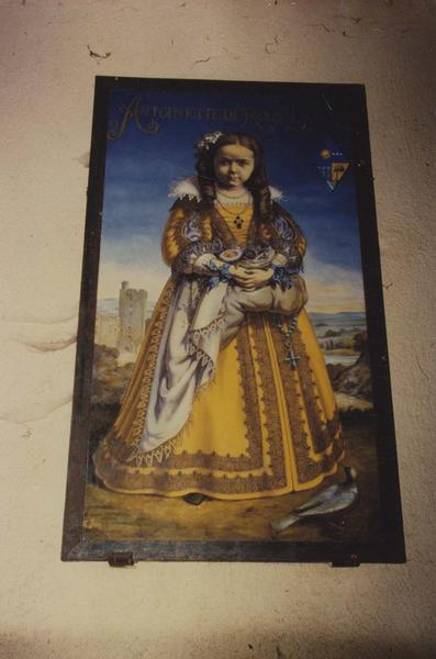 tableau : portrait d'Antoinette de Roux Larcy, vue générale