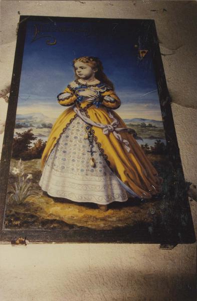 tableau : portrait d'Elizabeth de Roux Larcy, vue générale