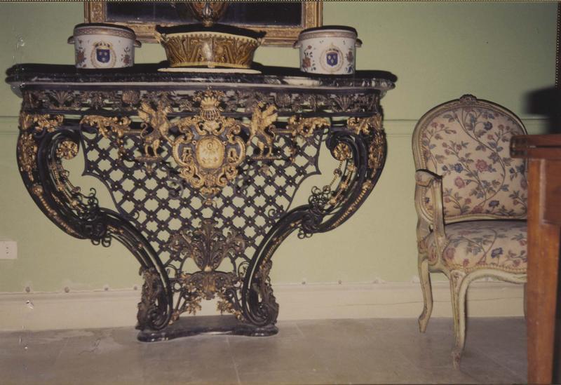 table console, vue générale