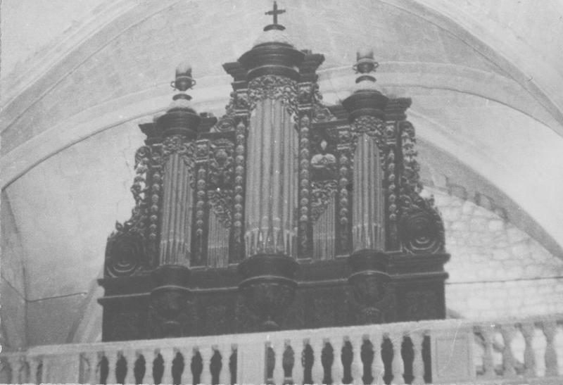 orgue de tribune : partie instrumentale de l'orgue, vue générale