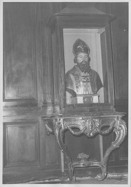 console, buste-reliquaire : de saint Gilles, vue générale