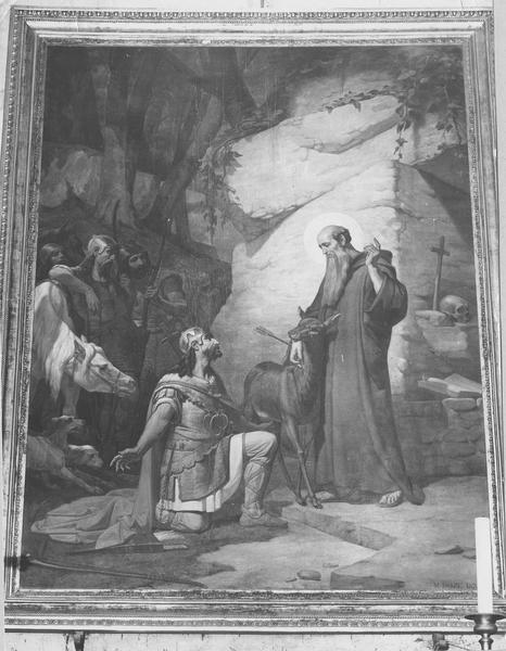 Tableau : saint Gilles surpris dans sa retraite par le roi Wamba