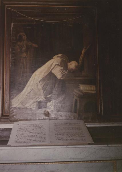 Tableau : saint Bruno en prière
