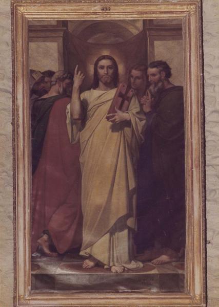 tableau : le Christ enseignant, vue générale