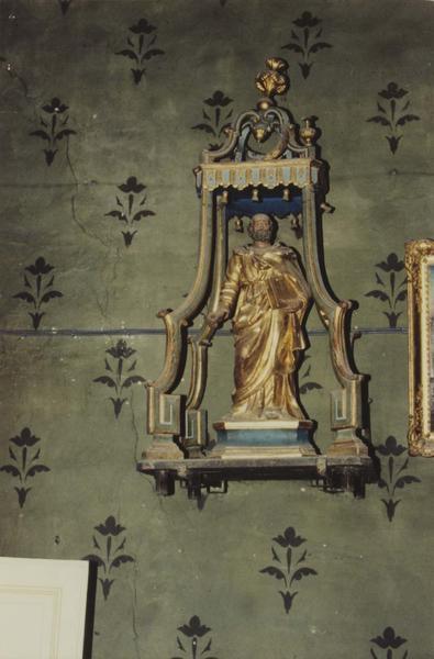 statue dans son dais de procession : saint Pierre, vue générale