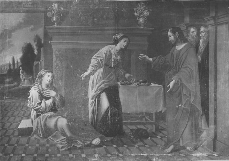Tableau : le Christ chez Marthe et Marie