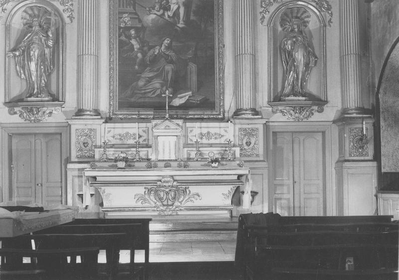autel, tabernacle, retable (maître-autel), vue générale