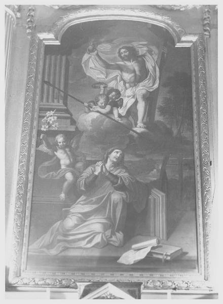 Tableau : la vision de sainte Catherine de Sienne, vue générale