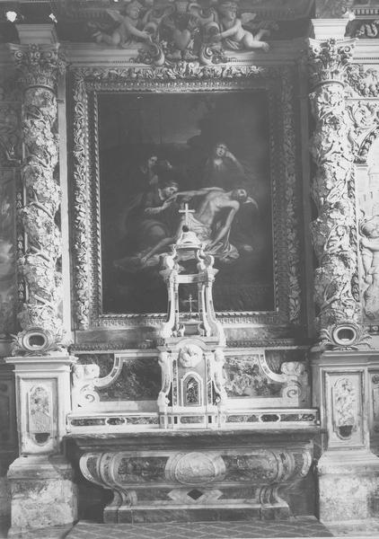 Retable, tableau (maître-autel) : la Descente de Croix
