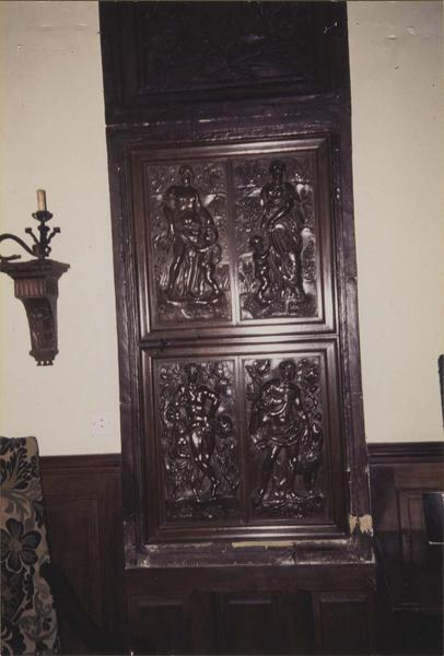porte (4 panneaux remontés dans une porte de placard), vue générale
