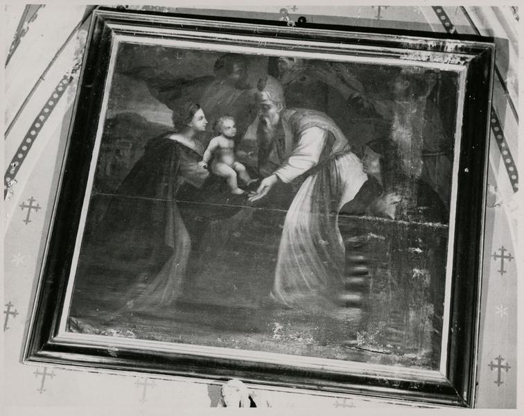 Tableau : l'Enfant Jésus au Temple avec les docteurs de la Loi