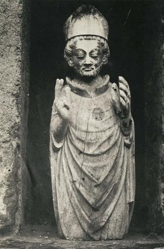 statue : Saint Exupère, bois fragment, 14e siècle