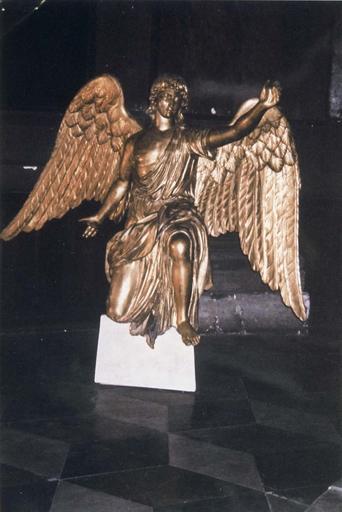 Statue : ange, bois doré, 1812