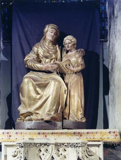 Groupe sculpté : Education de la Vierge ou Sainte Anne et la Vierge