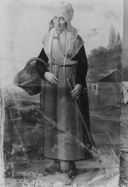 Tableau : portrait de Jeanne Françoise Lussan