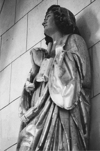 statue (figure colossale) : saint Jean du calvaire, vue de gauche, détail