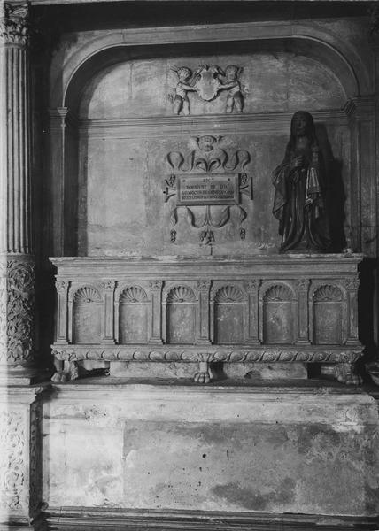 enfeu : monument furéraire de Savary et Bernard d'Ornezan, oncle et neveu, tous deux évêques de Lombez