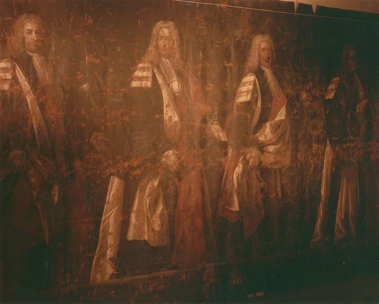 tableau : quatre capitouls : Boulet, Ladoux, Marcorelle et Miramont