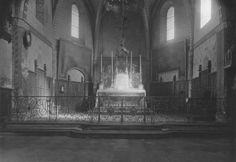 clôture de choeur (appui de communion)